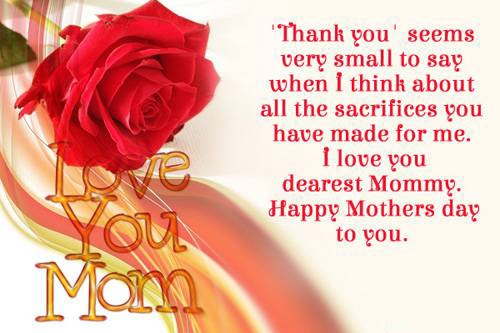 Mothers Day Thank You Messages